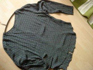 Bluse Tunika dunkelblau/dunkelgrün/hellgrau Größe 40