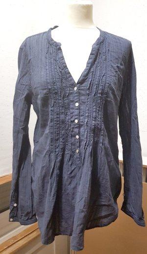Bluse, Tunika, dunkelblau, H&M, Gr. 44
