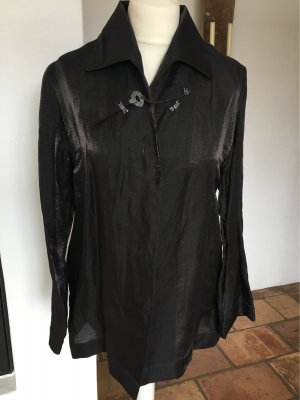 Mothwurf Blouse en lin gris anthracite