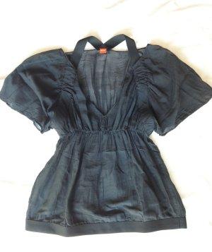 Hugo Boss Blusa transparente negro-gris antracita