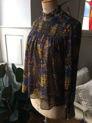 Zara Basic Crash Blouse multicolored polyester