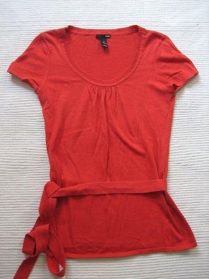 bluse tunika H&m rot gr. s 36
