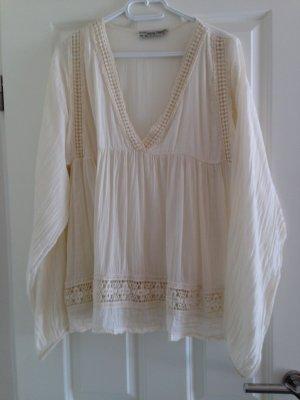 Bluse, Tunika, Hippie, Festival,  Gr. M, Off-White