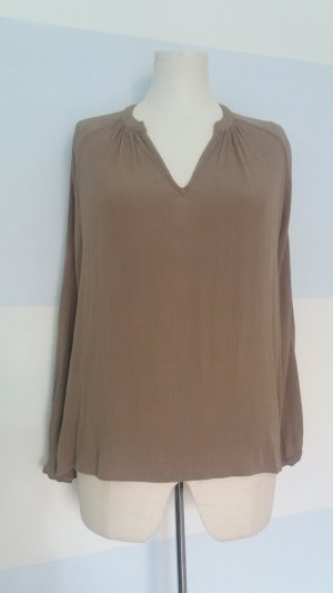 American Vintage Blouse en crash gris brun-marron clair rayonne
