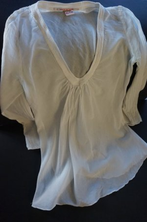 Bluse Tunika No-l-ita Nolita weiß transparent Größe XS