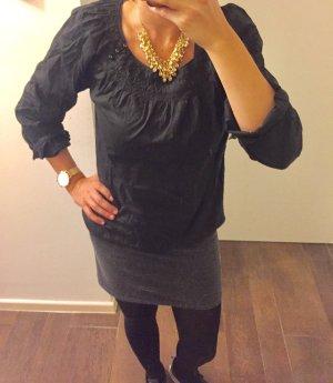 Bluse Tunika Oberteil locker schwarz MEXX wie neu 7/8 Ärmel schlicht