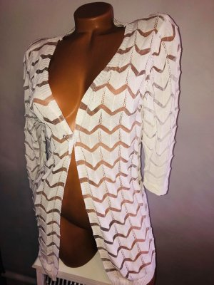 Bluse Tunika Pullover in gr 38 Farbe Weiss teils transparent