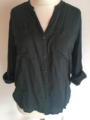 Bluse Tunika Shirt locker dunkelgrün oversized Gr. L