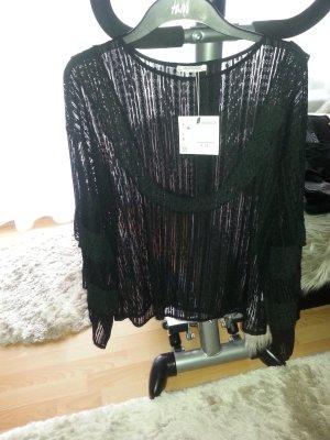 Bluse Tunika Spitzenbluse Zara Gr.L