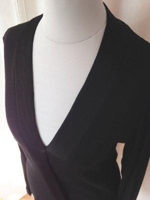 Zara Woman Blusa tipo kimono negro