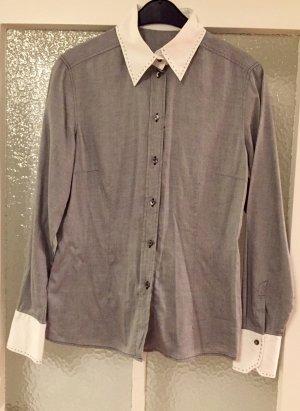 Bluse Van Laack 38 weiß grau