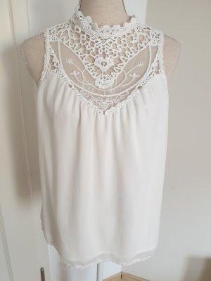 Vero Moda Inserción de blusa blanco
