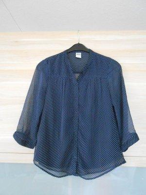 Bluse Vera Moda#durchsichtig#punkte#dunkelblau#Sommer#luftig