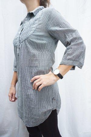 Bluse Vero Moda, Gr. S, Long-Bluse, Blusenkleid, Kleidchen, blau-weiß gestreift