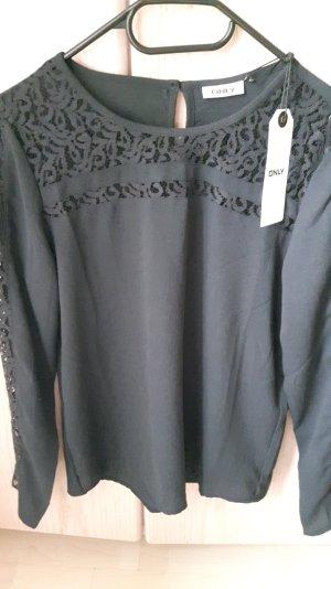 Bluse Vero Moda Only schwarz anthrazit Gr. 34 NEU