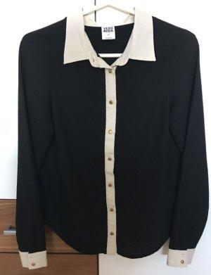 Bluse Vero Moda schwarz creme XS 34