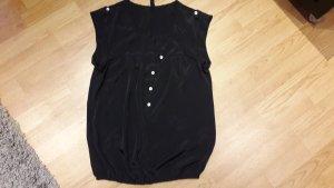 Bluse Vero Moda T-Shirt tunika top Shirt Neu Satin Sommer Gr. S/36/M/38 schwarz