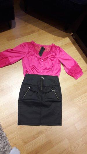 Bluse Vero Moda T-Shirt tunika top Shirt Neu spitze Sommer Gr. S/36/38/M Satin