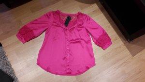 Bluse Vero Moda T-Shirt tunika top Shirt Neu spitze Sommer Gr. XS/34 Satin