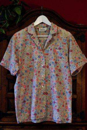 Bluse Vintage Blumen Muster Baumwolle