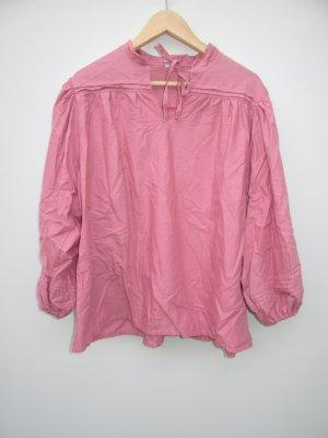 Bluse Vintage Retro rosa Puffärmel oversize Gr. L / XL Tracht