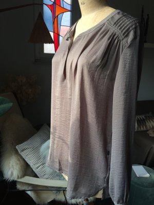 Bluse von 10 Feet, Raffung, toller Taupe Ton, Gr. M
