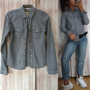 Abercrombie & Fitch Shirt Blouse white-dark blue