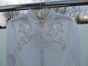 Colletto camicia bianco Cotone