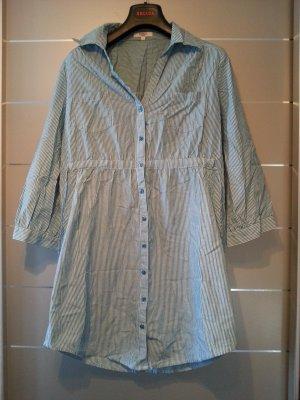 Bluse von Anne L., Größe L / 40, blau, weiß