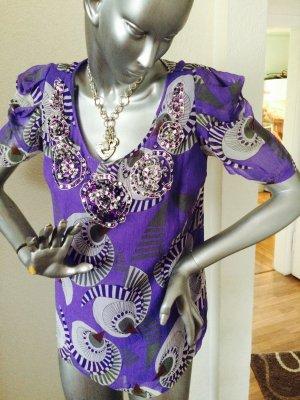 Bluse von Antik Batik in flieder/lila Gr. M/40