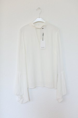 Bluse von Bardot Weiß Nude Vintage Look Gr. 38 Blogger neu mit Etikett