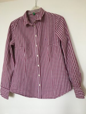 Benetton Blouse à carreaux blanc-violet