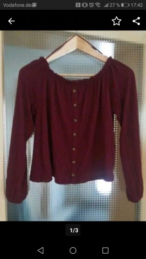 Bershka Blouse bordeau