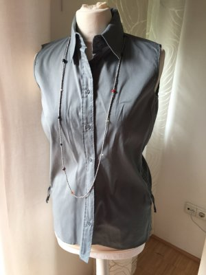 Hugo Boss Glanzende blouse zilver-grijs