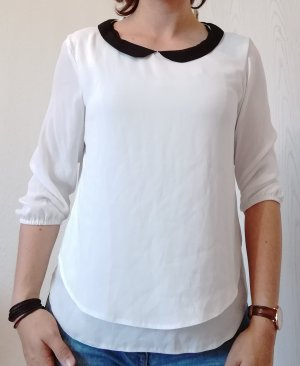 C&A Blouse Collar white-black