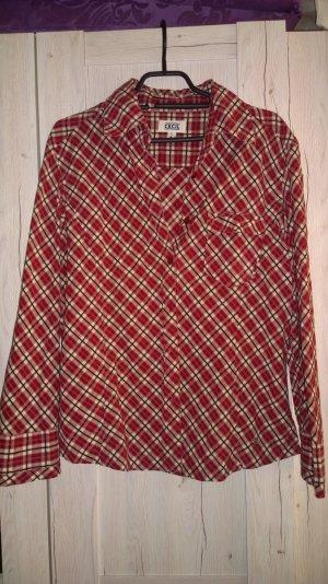 Bluse von Cecil rot gemustert