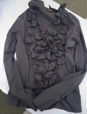 Ecco Ruffled Blouse grey-dark grey
