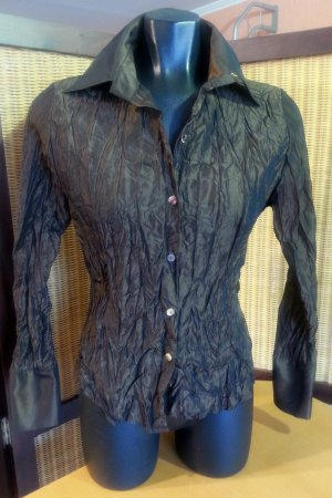 Bottega Veneta Blouse en crash brun noir viscose