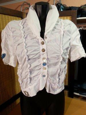 Blusa Crash bianco Cotone