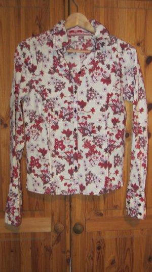 Bluse von Esprit, Blumen - Gr. M, ceme rosé