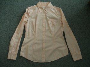 Bluse von Esprit, Gr. 38, apricot-weiß gestreift / Baumwolle