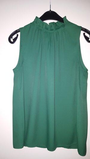 Bluse von Esprit in Grün mit rüsschen am Kragen