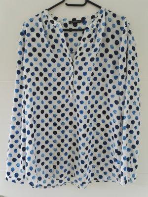 Bluse von Esprit mit Punkten/Tupfern in verschiedenen blau-Tönen