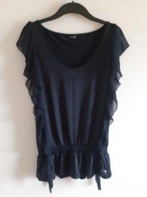 Fracomina Mouwloze blouse donkerblauw