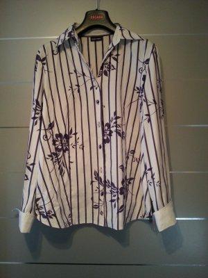 Bluse von Gerry Weber Edition, Größe 40, weiß lila