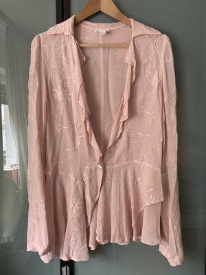 Ghost Camicetta con arricciature rosa chiaro