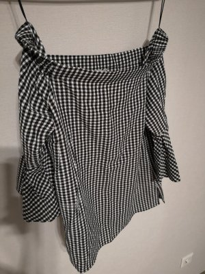 H&M Blusa blanco-negro