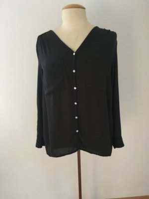 H&M Oversized blouse donkergrijs-antraciet