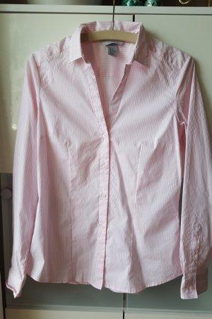 Bluse von H&M rosa-weiß gestreift - Größe 38