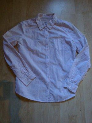 Bluse von H&M weiß- rosa, Gr. 40